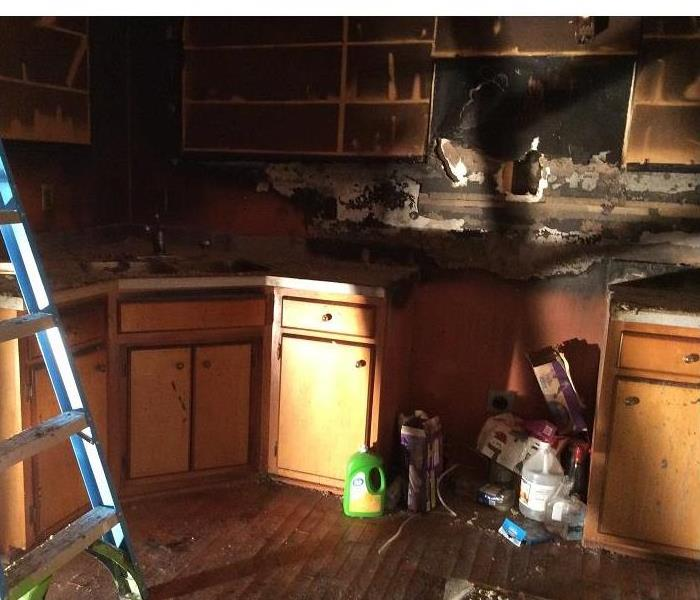 Fire Damage Somethings frying in this Kentucky kitchen and it ain't chicken